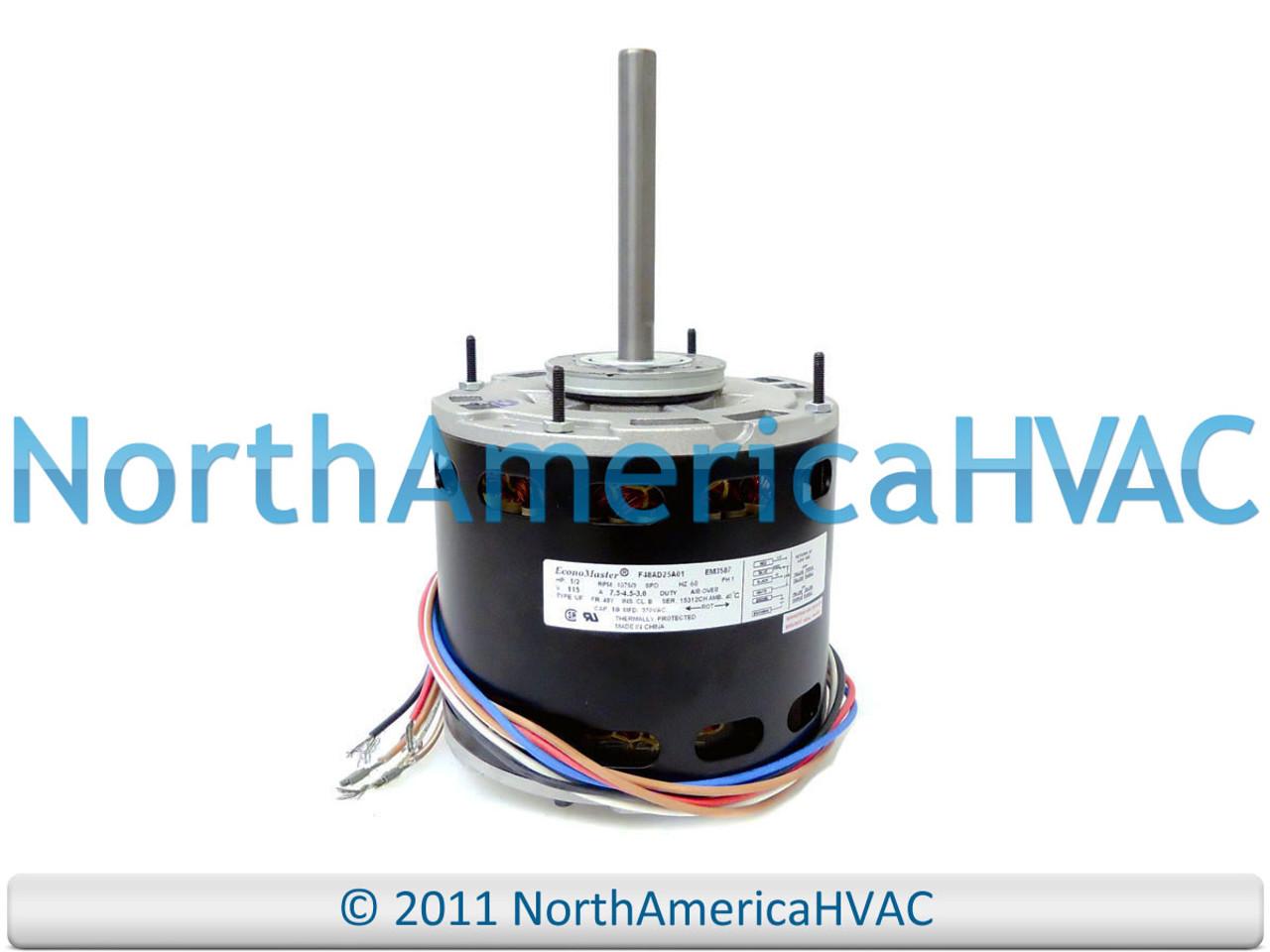 NEW EconoMaster Universal Multi-Speed Furnace BLOWER MOTOR 1/2 HP 115 Volt  - North America HVACNorth America HVAC