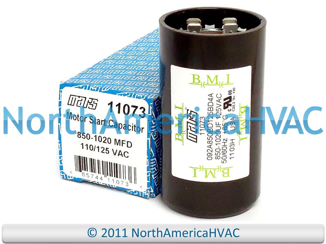 850-1020 MFD Mars 11073 Motor Start Capacitor 110//125