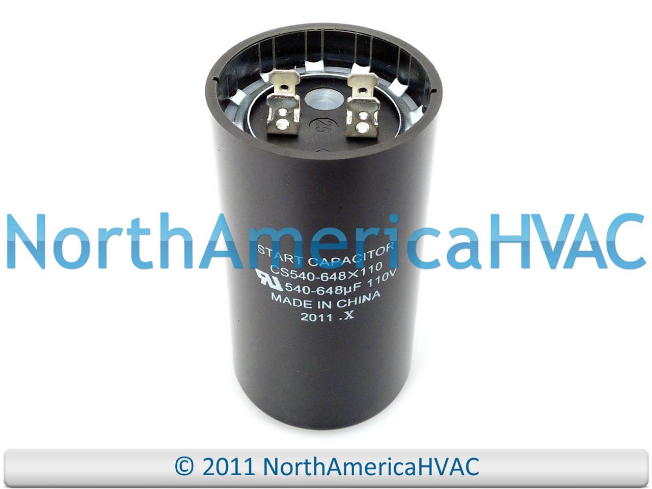 Motor Start Capacitor 540-648 MFD 110-125VAC MARS 11026