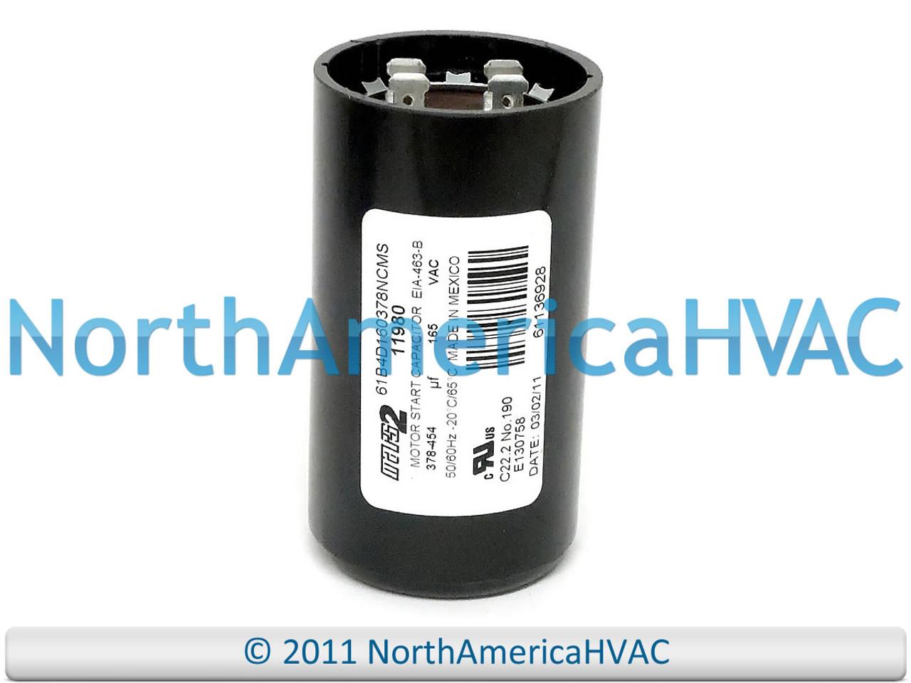 Motor Start Capacitor 378-455 MFD 165 VAC MARS 11080