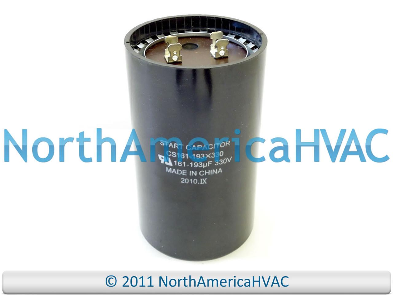 Motor Start Capacitor 161-193 MFD 330 VAC MARS 11067