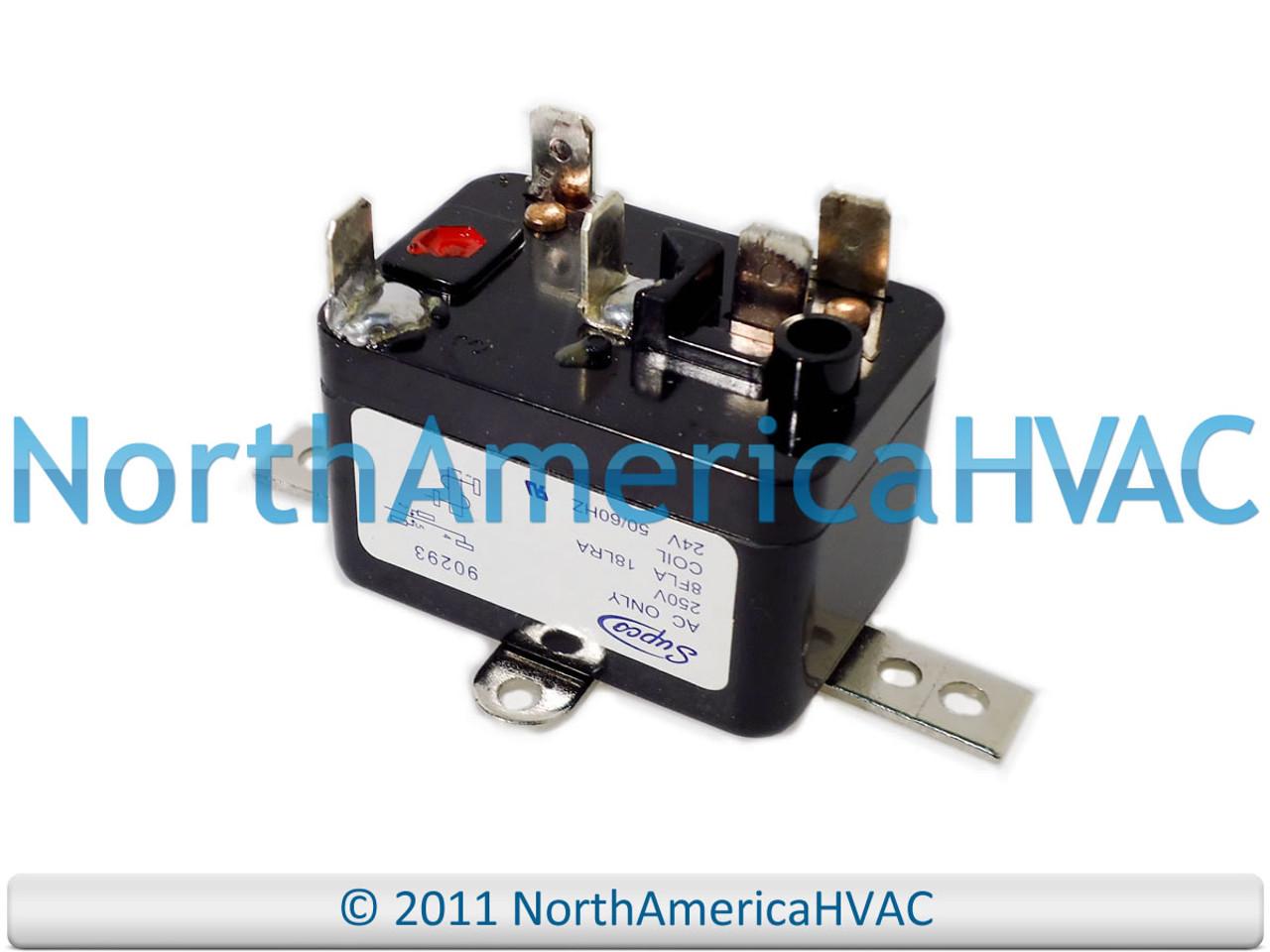 Mars White Rodgers Steveco Furnace Fan Blower Relay- 24 volt coil 90293Q  90-293Q - North America HVACNorth America HVAC