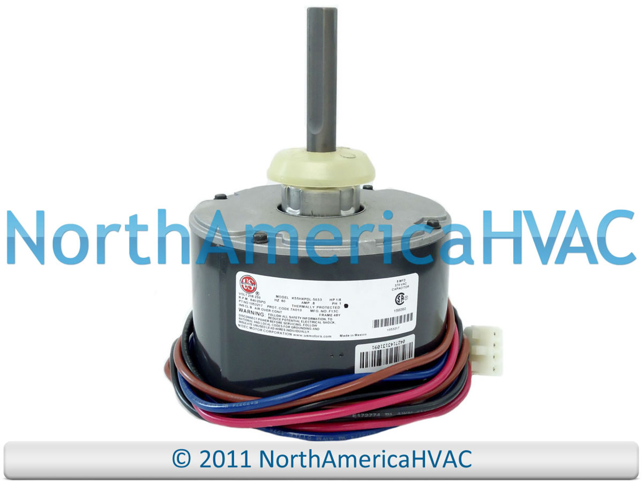 [SCHEMATICS_4US]  ICP Heil Tempstar Emerson 1/8 HP 230v Condenser FAN MOTOR HQ1053217EM  1053217 - North America HVAC | Icp Hvac Wiring |  | North America HVAC