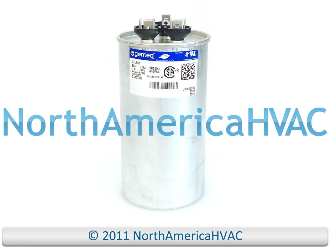 fits Janitrol # CAP075450440RTS 45//7.5 uf MFD 370//440 Volt VAC ClimaTek Round Capacitor