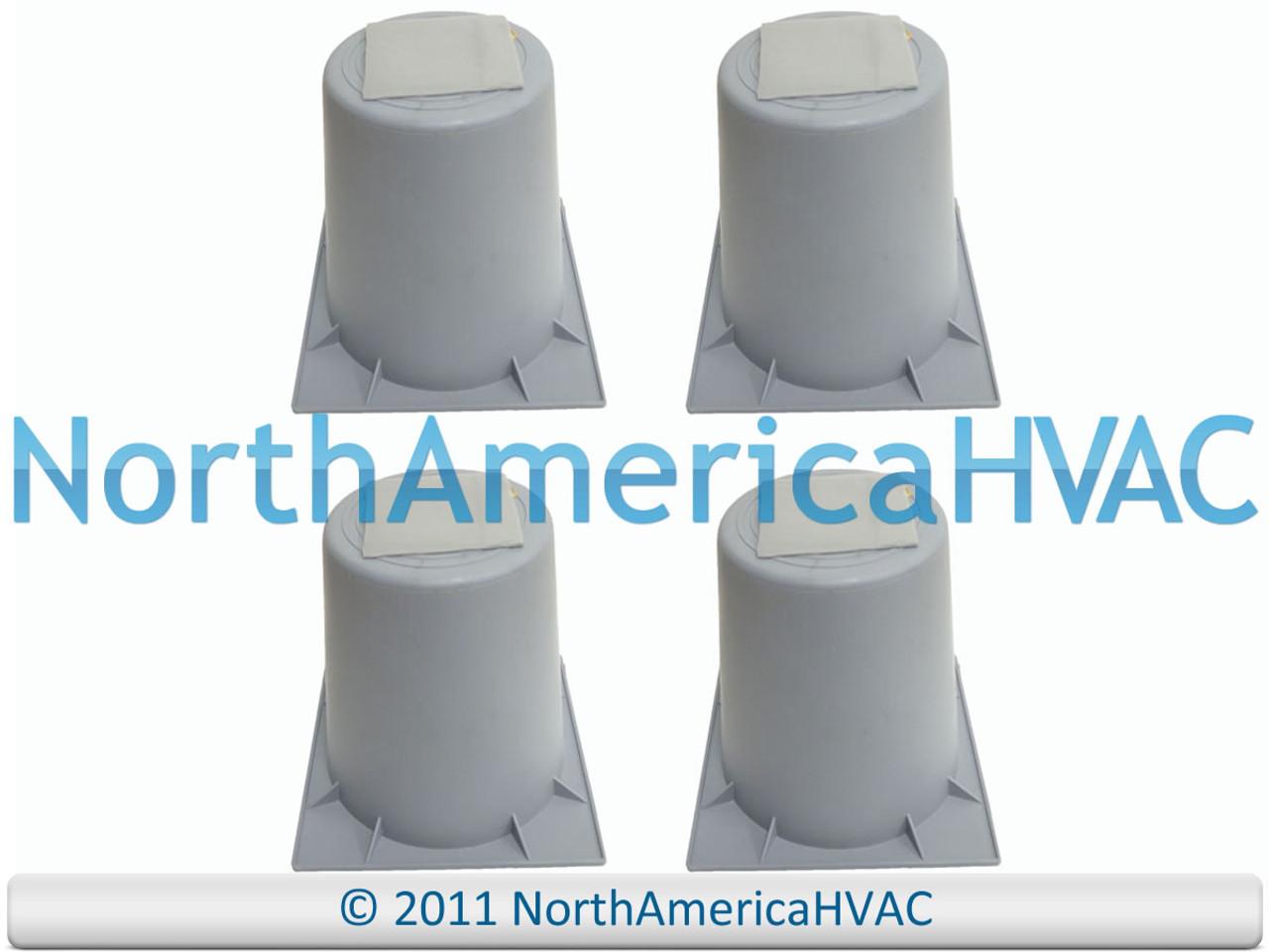 "4x 6/"" HVAC AIR CONDITIONING HEAT PUMP CONDENSER RISER LIFTERS STANDS 93601 HPR-6"