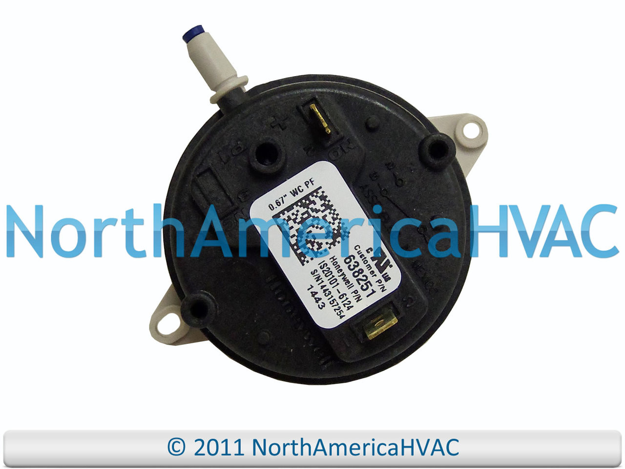 """York Coleman Furnace Air Pressure Switch 024-26000-000 S1-02426000000 0.65/"""" PF"""