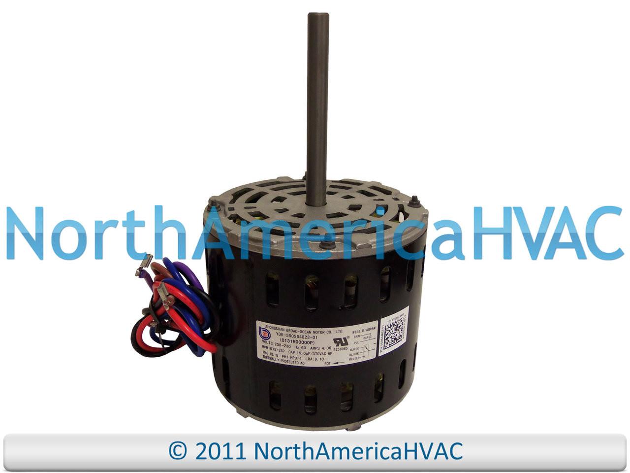 OEM Goodman Amana 3/4 HP 230v Furnace Blower Motor 0131M00000PS  0131M00000PSP - North America HVACNorth America HVAC