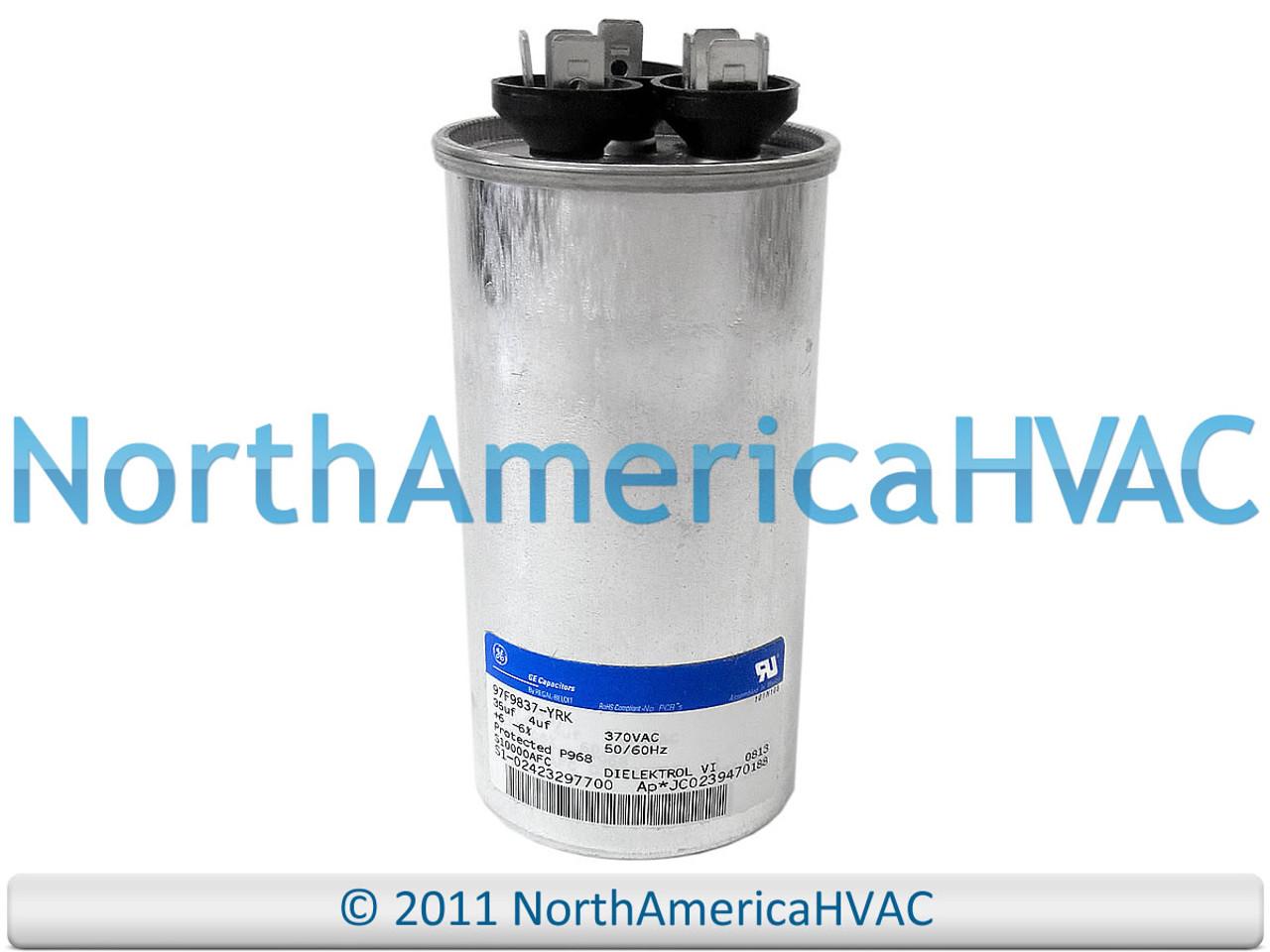 Amrad Capacitor Dual Run Oval 45//7.5 45.0//7.5 uf MFD 440 VAC VA2000//44 456+755