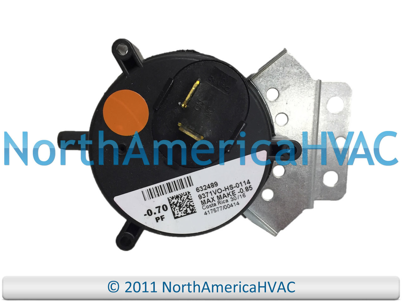MPL Furnace Vent Air Pressure Switch OEM Replacement 9371VO-HS-0112
