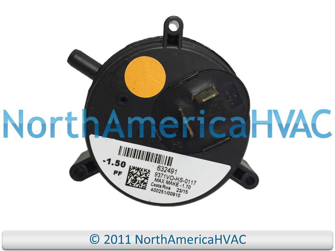 Gibson Furnace Vent Air Pressure Switch 632491 OEM Replacement