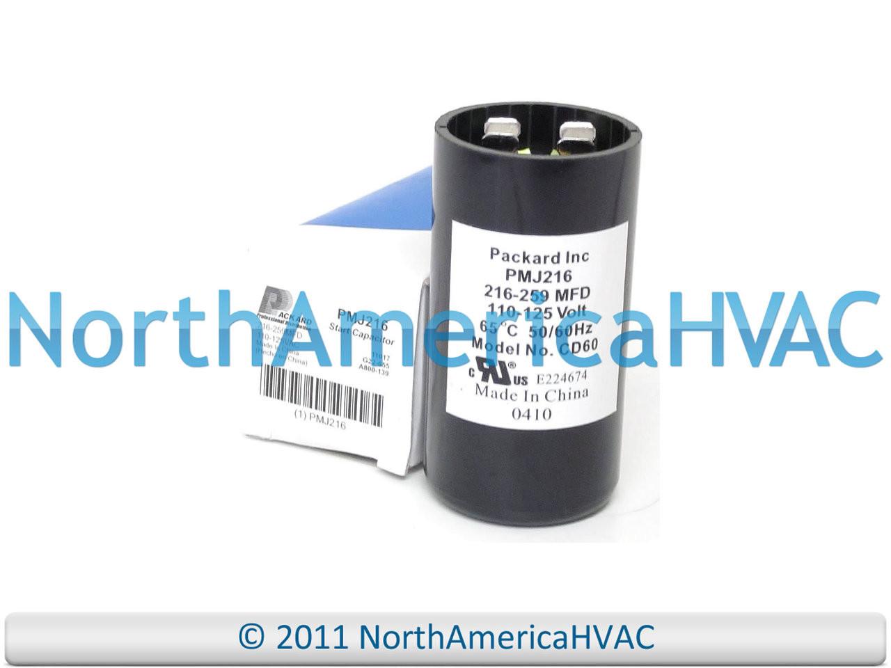 Motor Start Kondensator 216-259 Mfd 110-125VAC Mars 11017