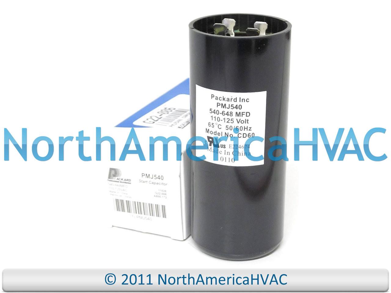 540-648 MFD 110-125 vac Electric Motor Start Capacitor uf HVAC volts