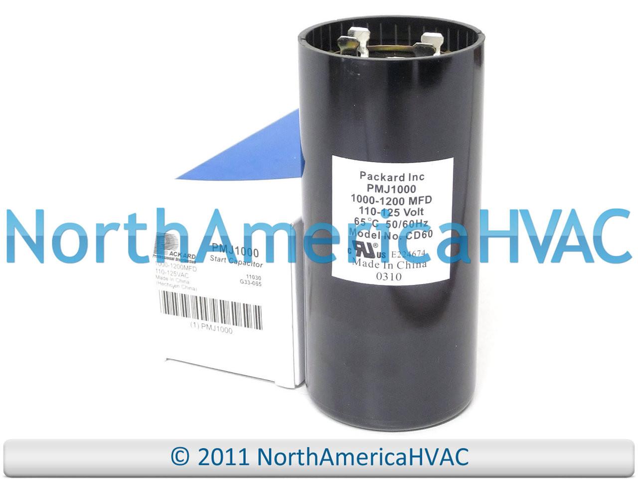 Packard PMJ108 Motor Start Capacitor 108-130 MFD 110-125 VAC