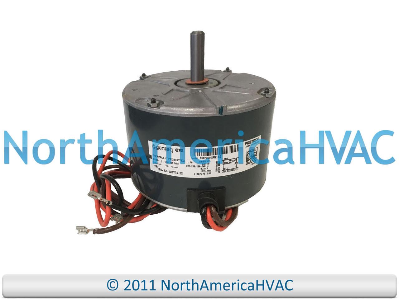 OEM GE Genteq 1//10 HP Condenser Fan Motor 208-230 volt 5KCP39BGAF52S