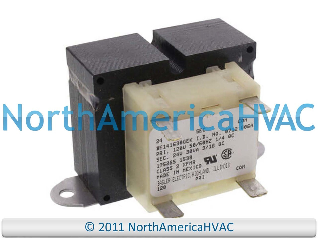 OEM Reznor Control Transformer 30va 120v to 24v 175265 RZ175265 BE141630GEK  - North America HVACNorth America HVAC