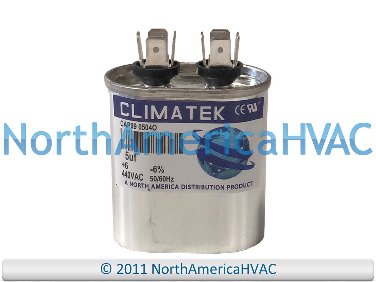 40//5 uf MFD 370//440 Volt VAC ClimaTek Round Capacitor fits Goodman # B9457-5600