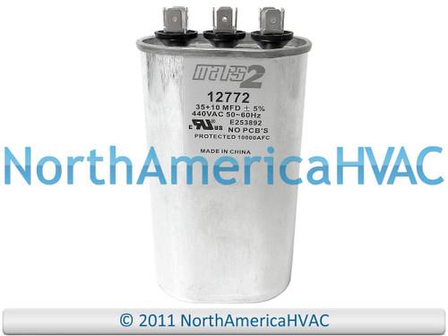 Dual Run Capacitor 40//5 MFD 440 VAC MARS 12786 FITS GENTEQ 97F9856