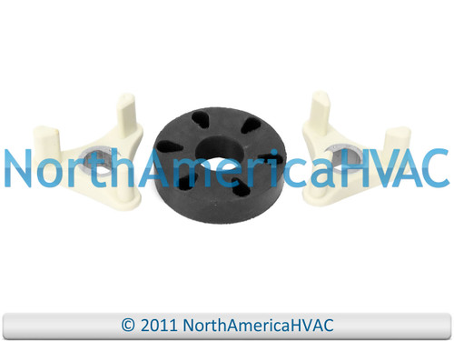 Re-enforced with metal sleeves. The coupler is located between motor and transmission. Replaces all previous versions.Pro Replacement Coupler is used on the following brands.GE Hotpint RCA Sears KenmorePro Replacement Coupler replaces the following part n