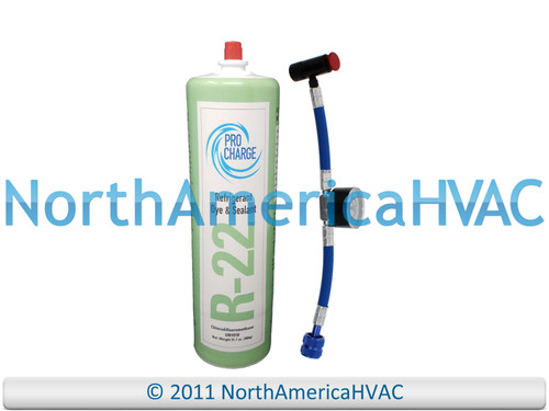 Pro Charge Refrigerant with UV Dye & Leak Sealant Gauge Included R22-PRO R-22
