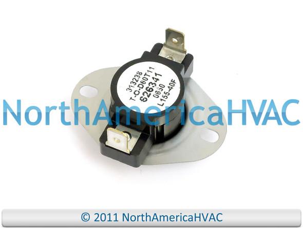 Nordyne Intertherm Miller Furnace Limit Switch L160-40F 313239 626336 6263360