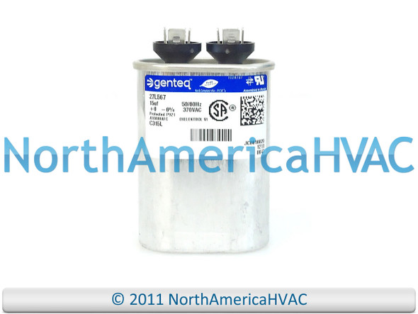 ClimaTek Oval Capacitor fits Diversitech # 45100H 10 uf MFD 370//440 Volt VAC