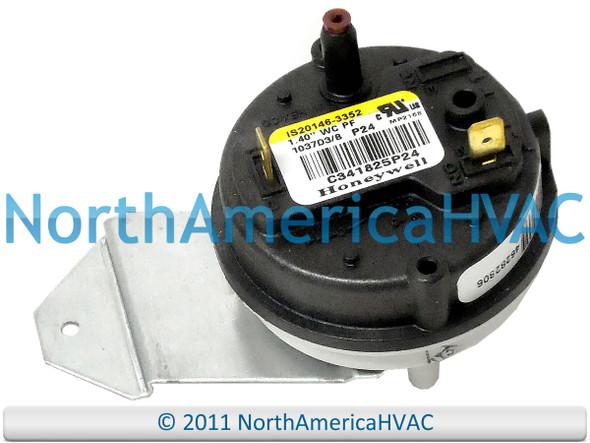 OEM Trane American Standard Furnace Air Pressure Switch 1.137/' C342634P29