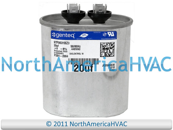 Carrier Bryant Capacitor 25//7.5 uf 370 volt P291-2573RS