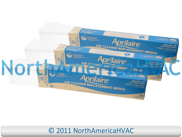 3x OEM Aprilaire Space-Gard SpaceGard Air Cleaner Media Filter 401 Model 2400