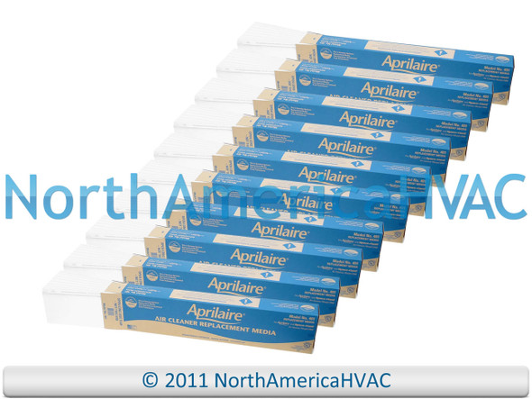 10x OEM Aprilaire Space-Gard SpaceGard Air Cleaner Media Filter 401 Model 2400