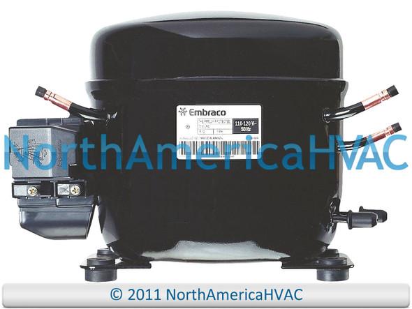 Refrigeration Compressor 1/10 HP R-134A Fits EMBRACO # EMIS30HRR EMIS30HRR1