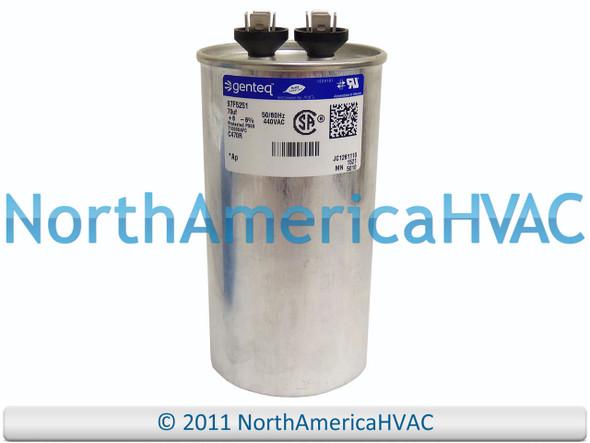 Genteq • 70 uf  440 VAC • Round Run Capacitor • C470R • 97F5251 GE