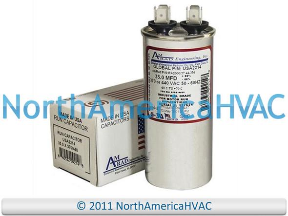 80 5 uf MFD 370 Volt VAC B9457-7600 Janitrol Round Dual Run Capacitor Upgrade