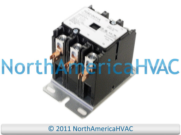 Qty of 7 Totaline Contactor Relays 3 Pole 40 Amp 24v HN53CD024