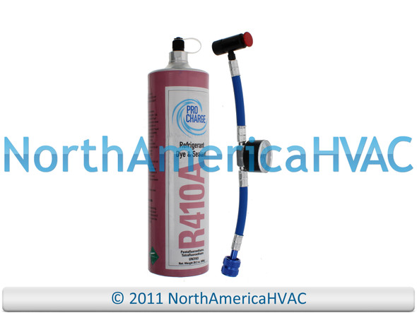 Pro Charge Refrigerant with UV Dye & Leak Sealant Gauge Included R410A-PRO R410a