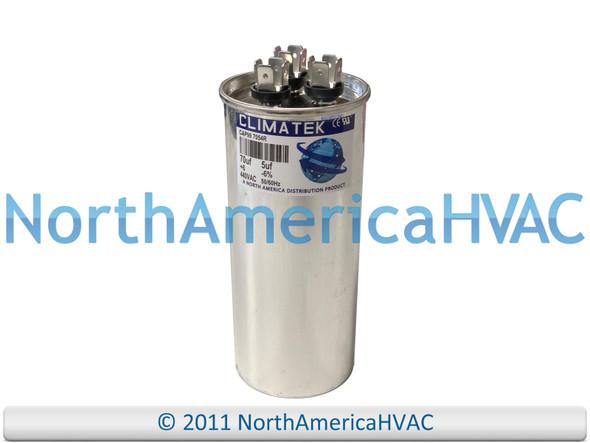 ClimaTek Dual Run Capacitor 70/5 uF MFD 370 / 440 VAC Round