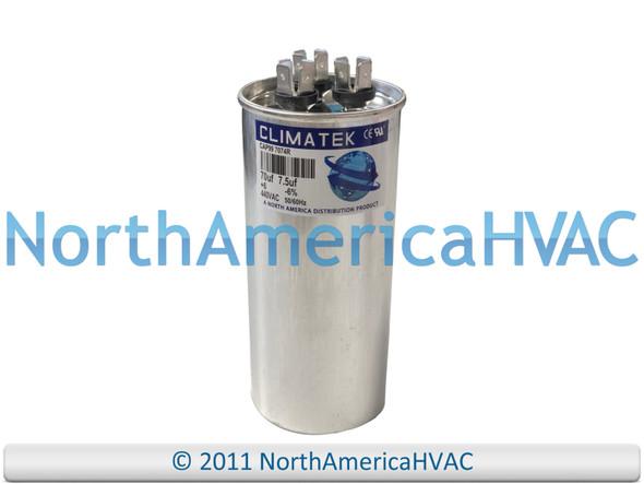 ClimaTek Dual Run Capacitor 70/7.5 uF MFD 370 / 440 VAC Round