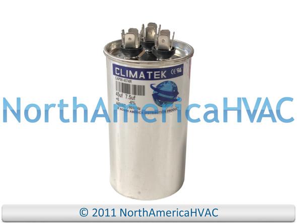 ClimaTek Dual Run Capacitor 45/7.5 uF MFD 370 / 440 VAC Round