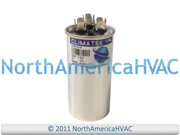 ClimaTek Dual Run Capacitor 35/7.5 uF MFD 370 / 440 VAC Round