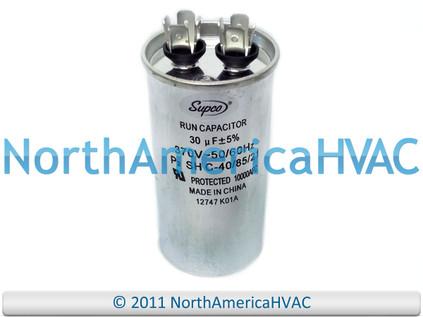 Motor Run Capacitor Round 30 uf MFD 370 Volt VAC 12717