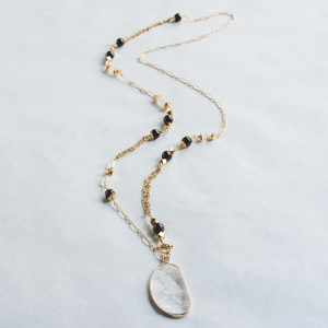 Red Garnet and Moonstone Necklace