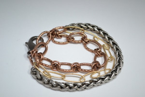 3 Strand Mixed Metal Bracelet II