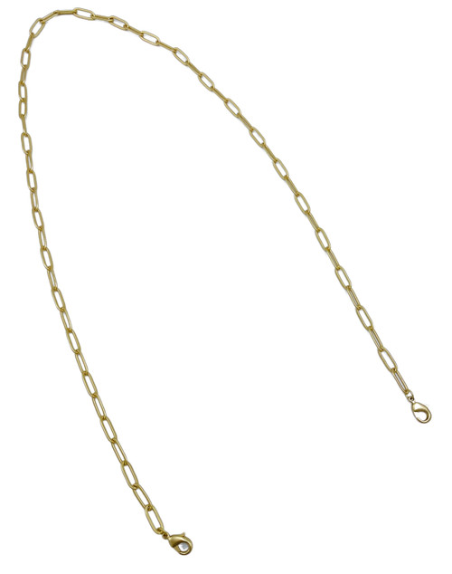 Gold Paperclip Chain Masklace