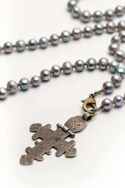 Antique Cross on Grey