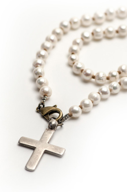 Antique Cross on White