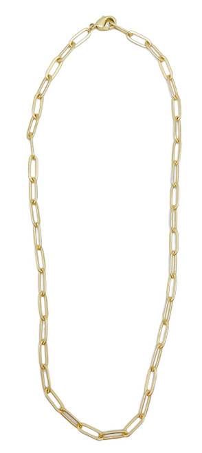 Gold-filled Paperclip Chain Necklace