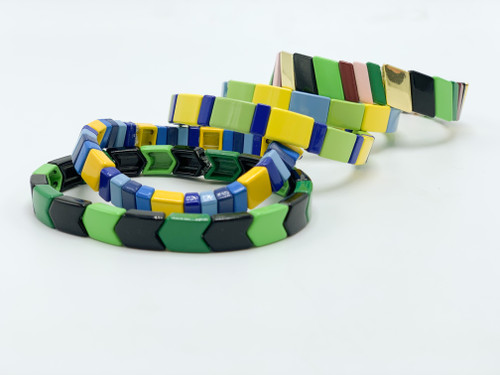 Multicolored Tile Bracelets