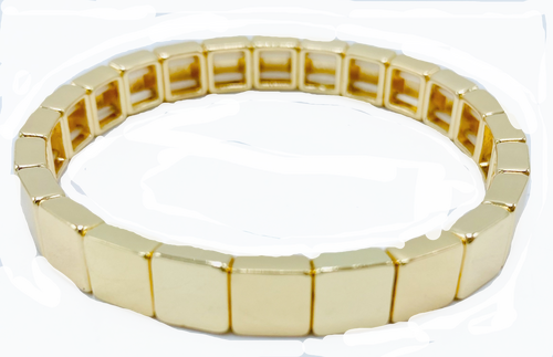 Gold Metal Tile Bracelets
