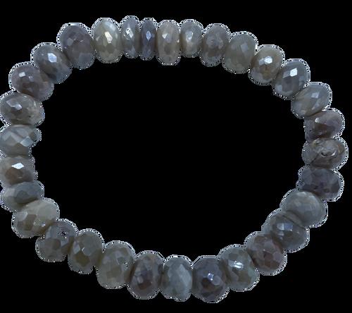 Coated Moonstone Stretch Bracelet