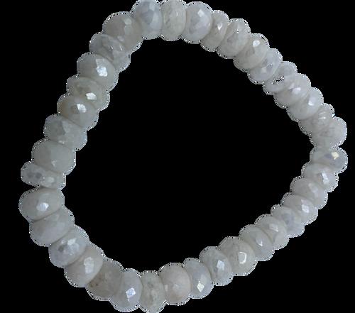 White Moonstone Stretch Bracelet