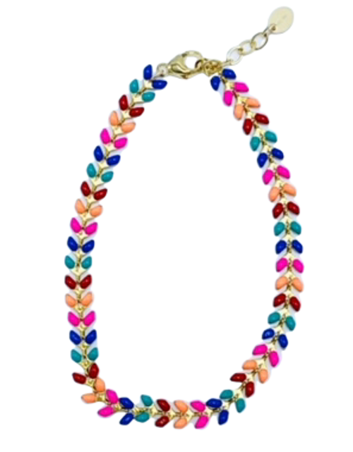 Multi colored Enamel Ankle Chain